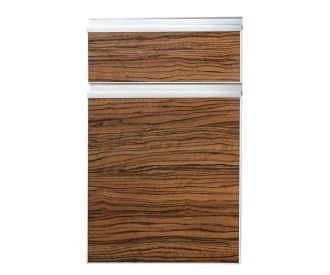 Natural wood grain kitchen cabinet door