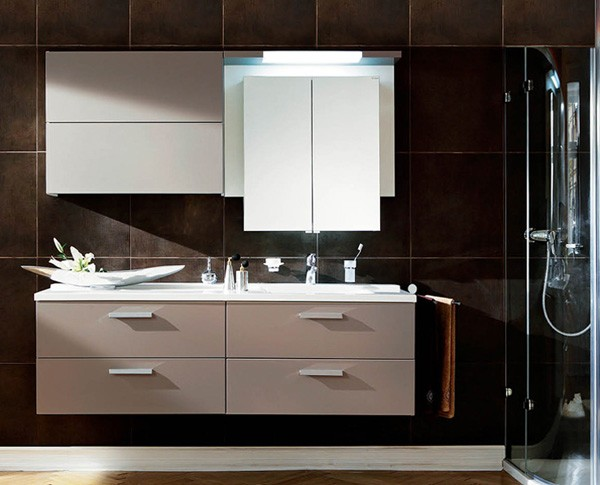 High Glossy Bathroom Cabinet