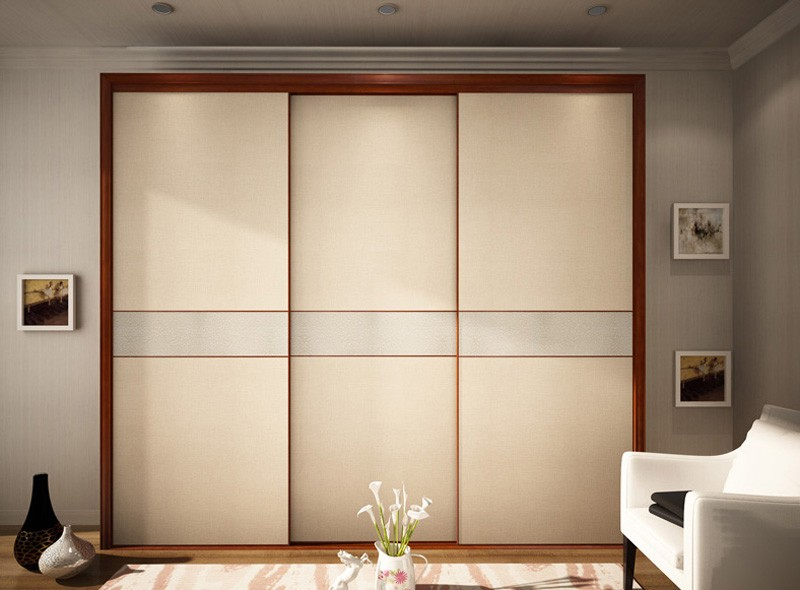 Medium density fiberboard wardrobe sliding door
