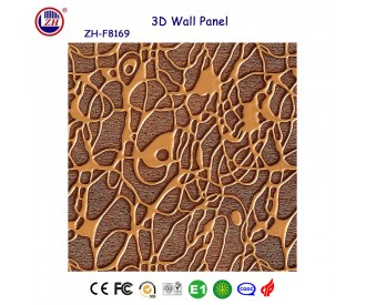 3D textured wall panels for decoration engineering