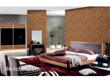 Wood wall paneling for bedroom wall design