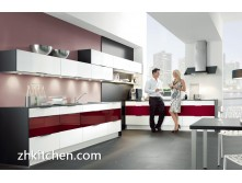 L shaped modern kitchen cabinet design