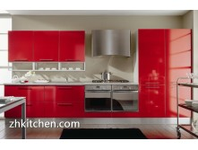 High gloss red kitchen cabinets wholesale price