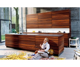 Wooden grain design cheapest kitchen cabinets