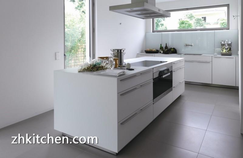 High Gloss White Prefab Kitchen Cabinets
