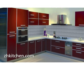 Acrylic small corner kitchen cabinets design