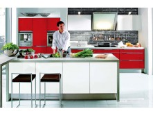 High gloss modern kitchen cupboards made in China