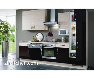 Simple black resurface kitchen cabinets China