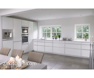 Glossy white kitchen cabinet simple designs