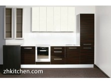 Wooden grain small kitchen designs