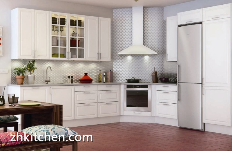 White Pvc Kitchen Cabinet Design