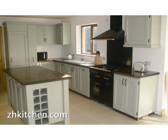 Economic kitchen cabinets with PVC door design