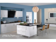 Gloss PVC door panel kitchen cabinet