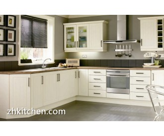 Modular white PVC kitchen cabinets sets