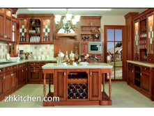 Ash wood kitchen cabinet design