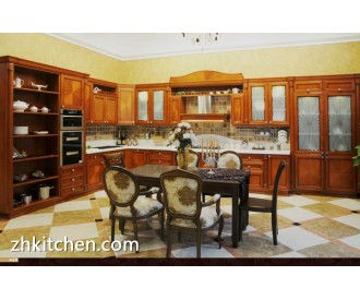 Classic style solid wood walnut kitchen cabinets