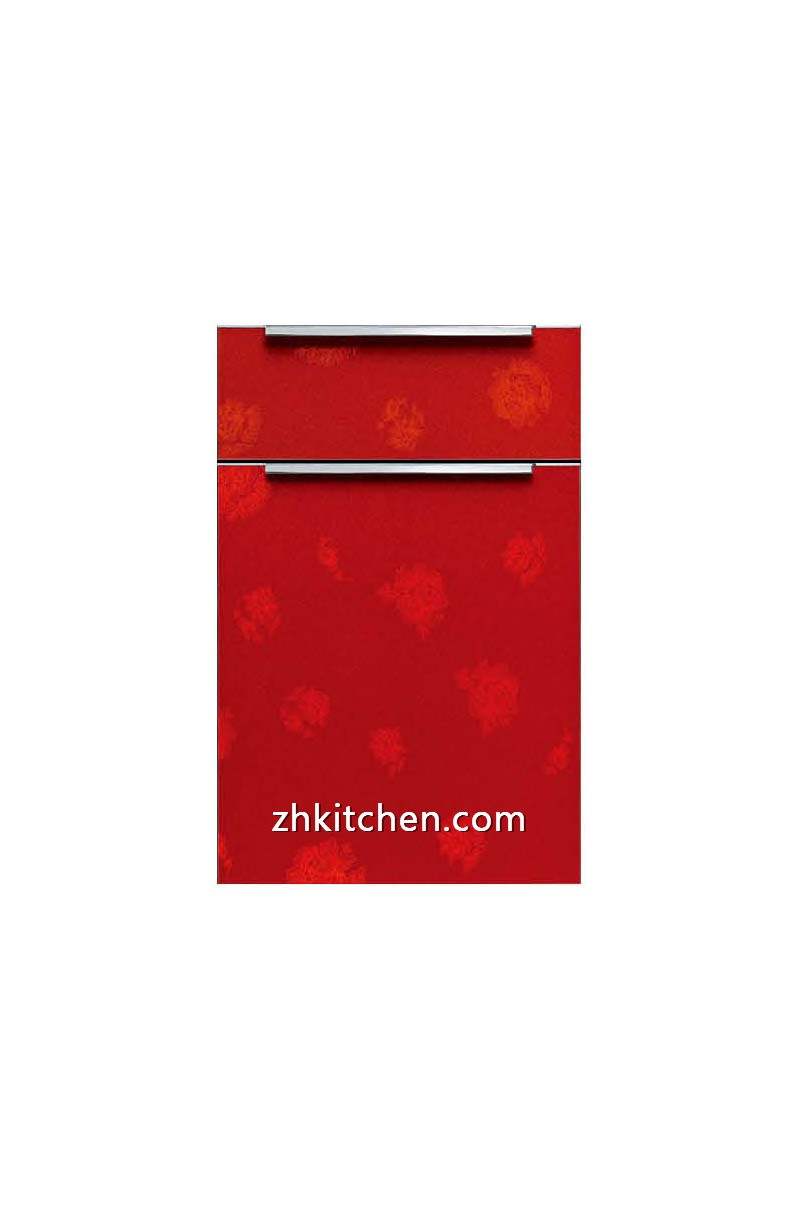 High gloss red kitchen cabinet doors for Red high gloss kitchen doors