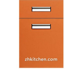 Oragne Glossy kitchen cabinet doors