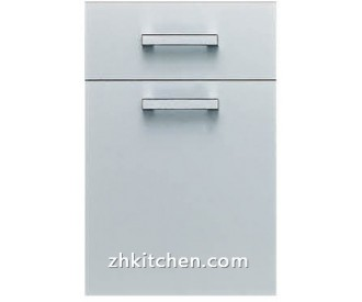 Solid grey kitchen cabinet doors