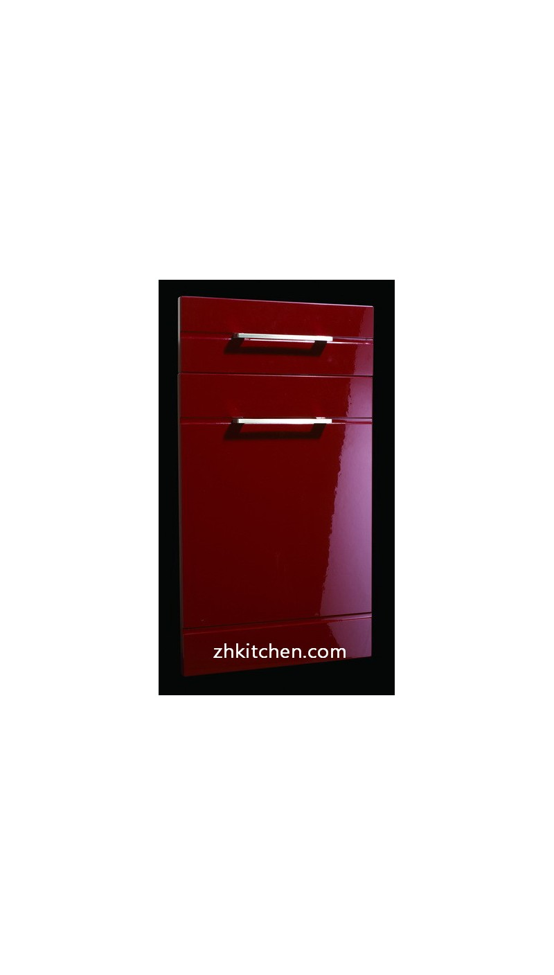 glossy red kitchen cabinet door decorative panels