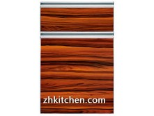 Natural wood grain kitchen cupboard doors