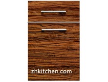 UV wood grain laminate cabinet doors