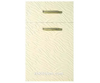 Embossed thermoform cabinet doors