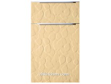 Leaves shaped pvc kitchen cabinet door