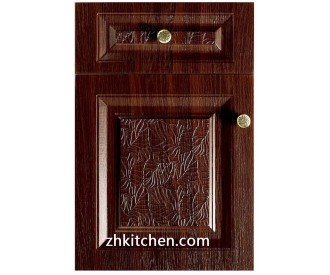 Red PVC Kitchen Cabinet Doors