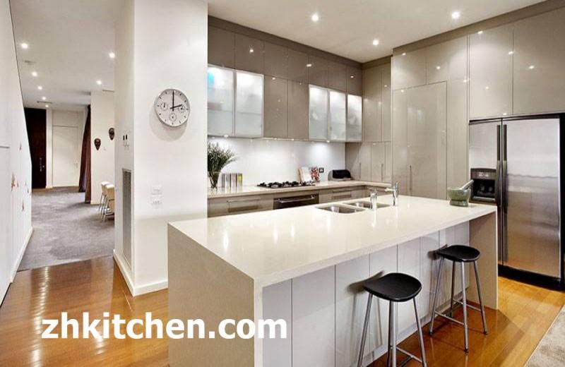 China white glossy kitchen cabinet manufacturer for White shiny kitchen cabinets