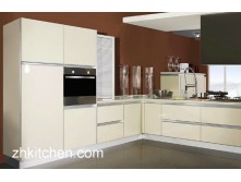 High Gloss Kitchen Cabinets in Milky White