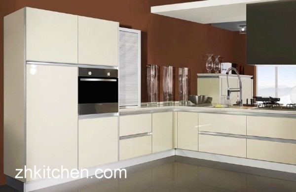 Cabinets High Gloss White Kitchen Lacquer Cabinet Doors: High Gloss Kitchen Cabinets In Milky White