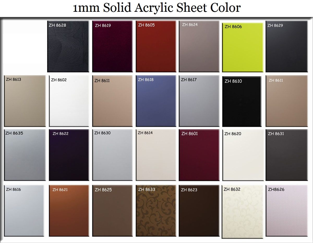 Moisture-proof 1mm Acrylic Sheet Available with Highly Glossy Finish