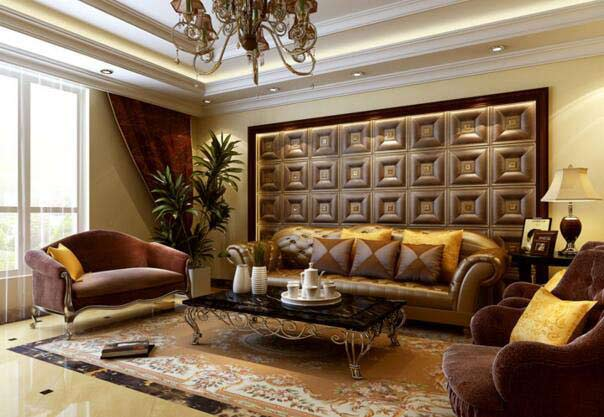 3D PU Leather Decorative Wall Panel