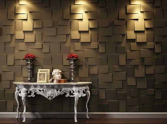 Decorative wall panel made from eco-friendly materials