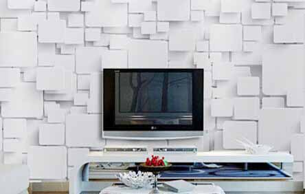 Decorative wall panel for TV background