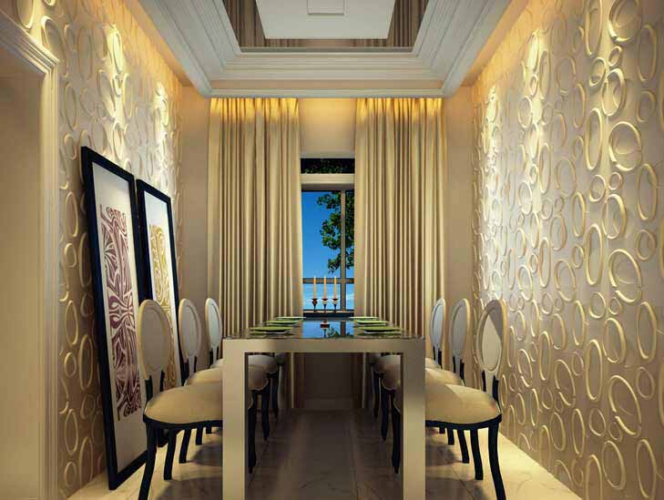 Cozy Dining Room With Decorative Wall Panels