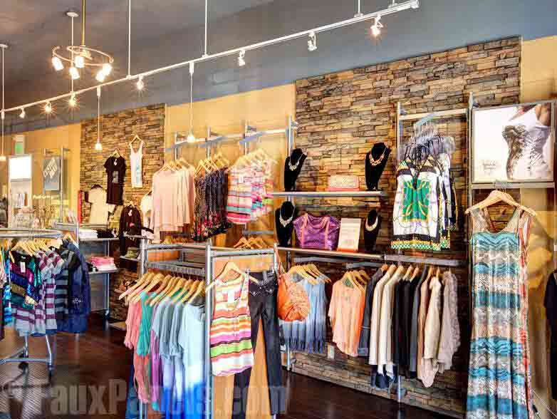 Brick Decorative Wall Panel In Clothing Store