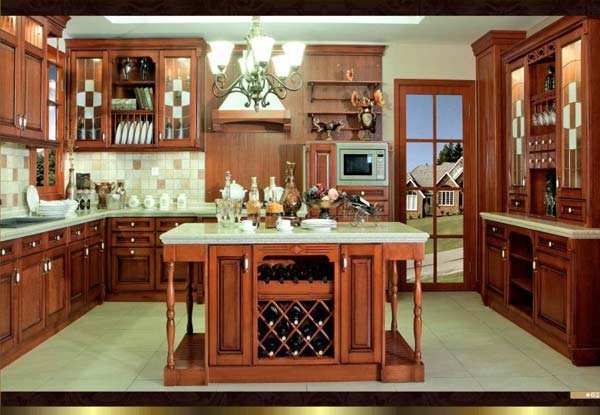 High-end Modern Kitchen Cabinet Solid Wood